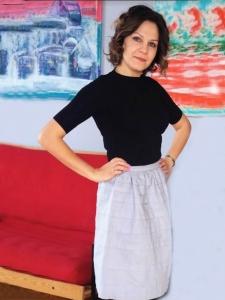la jupe féminine de bureau.