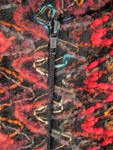 zipper de manteau sans manches avec fermeture a glissiere