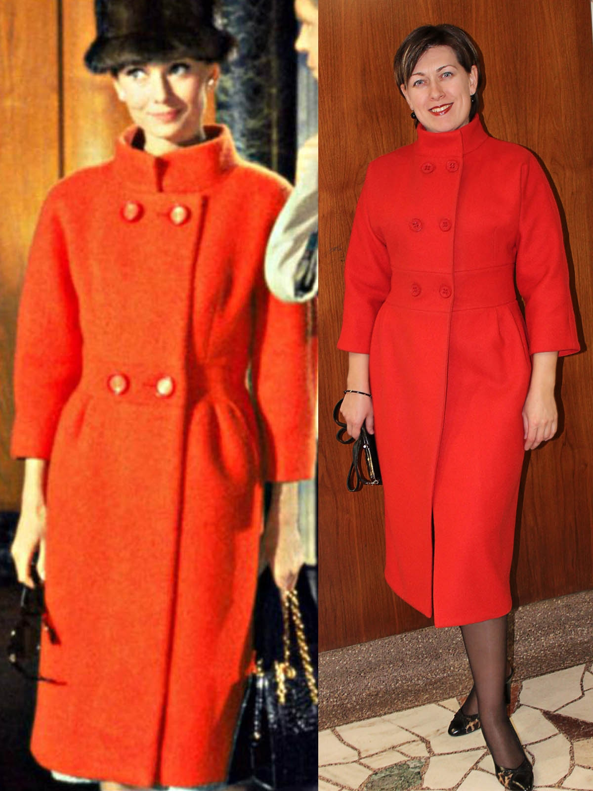le manteau orange d'Audrey Hepburn.