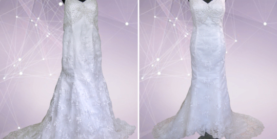 Un ajustement d'une robe de mariée Montreal