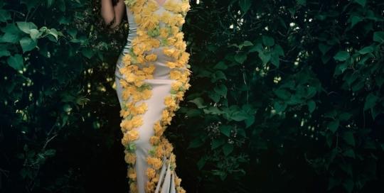 Robe longue à fleurs Montreal Canada