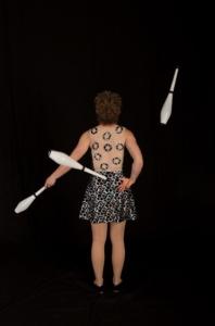 Short dress circus performer Montreal